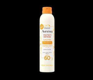 Aveeno aerosol suncreen Johnson and Johnson recalled